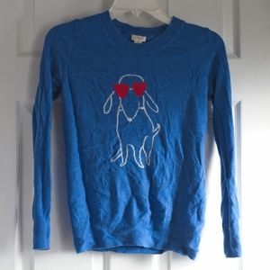 Blue J. Crew Factory XS Lightweight Sweater